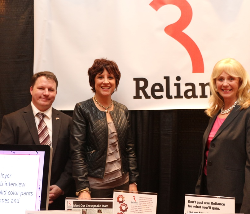Reliance Staffing & Recruiting, Presenting Sponsor for the 2015 Chamber's Spring Business to Business Expo