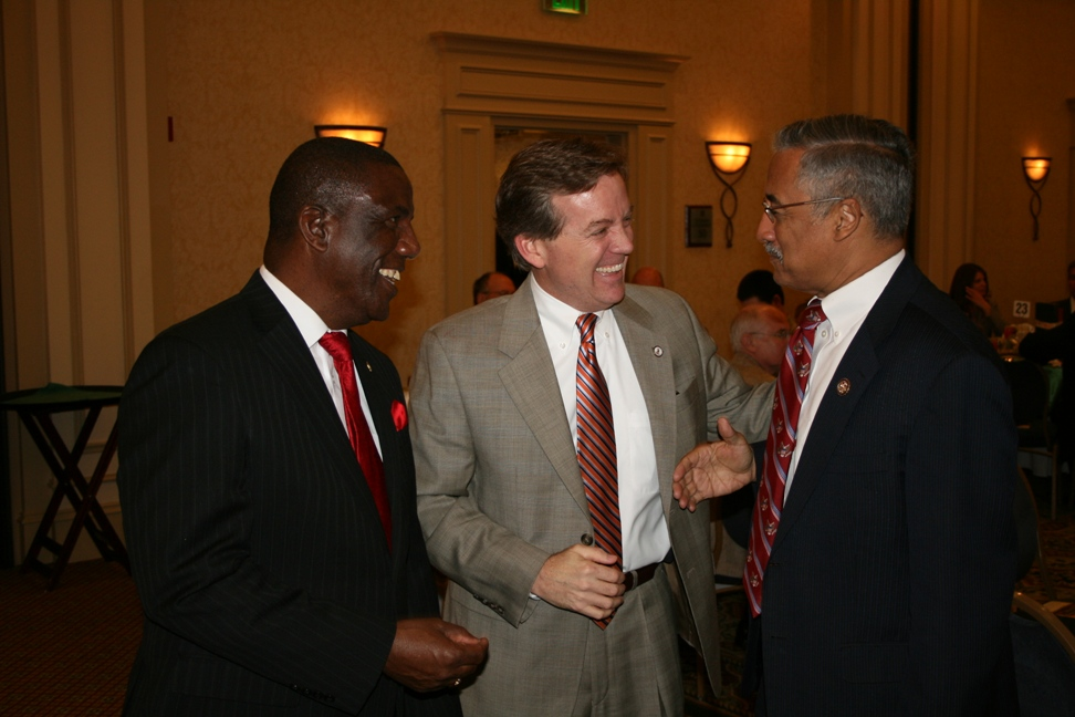(from left) Delegate Lionell Spruill, Delegate Chris Jones and Congressman Bobby Scott