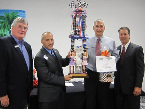 (from left) Chamber's President & CEO Jack Hornbeck; Paul Ariola, Dale Carnegie Training/Wad Powell & Assoc.; top producer Ken Donner, Fulton Bank; and Chamber Chair Nelson Adcock, GeoEnvironmental Resources, Inc.