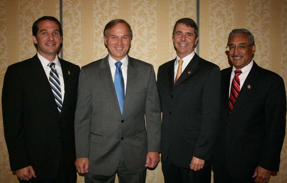 (from left) Congressman Glenn Nye, Congressman Randy Forbes, Congressman Rob Wittman and Congressman Bobby Scott