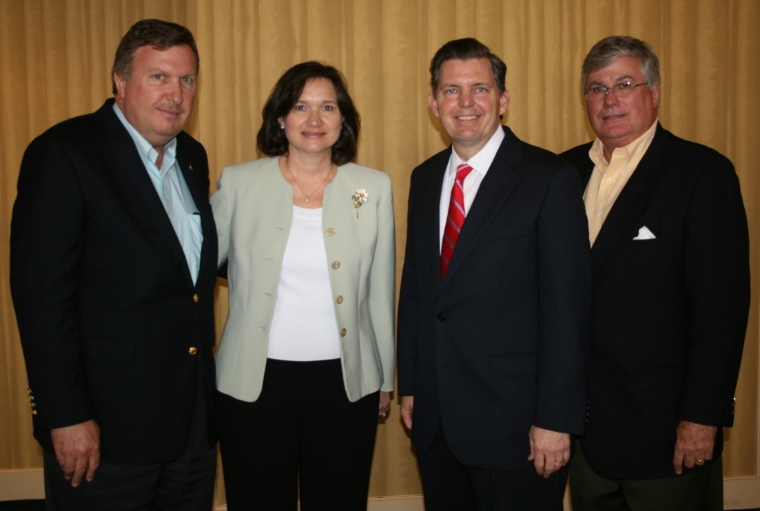 (from left) Ira Agricola, Sr. Vice President, Hampton Roads Chamber; Sylvia Haines, Sr. Vice President, Hampton Roads Chamber; Barry DuVal, President & CEO, Virginia Chamber; and Jack Hornbeck, President & CEO, Hampton Roads Chamber