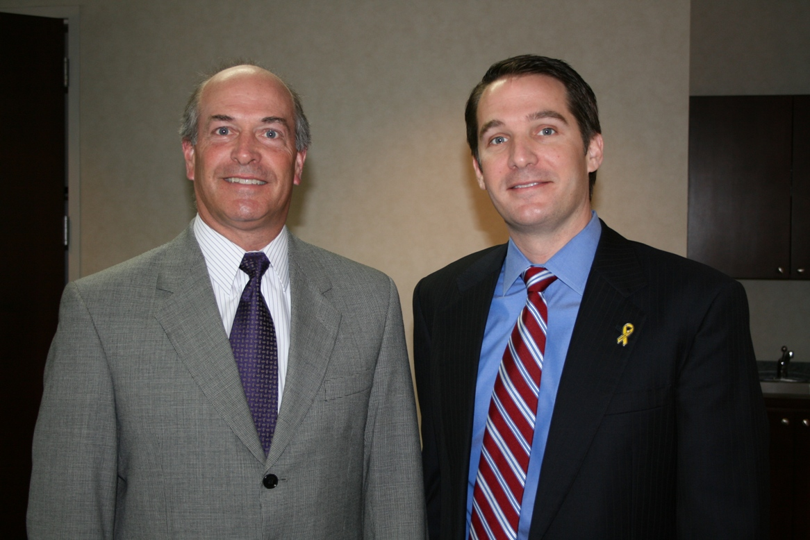 Virginia Beach Board Chair John Wilson and Congressman Glenn Nye