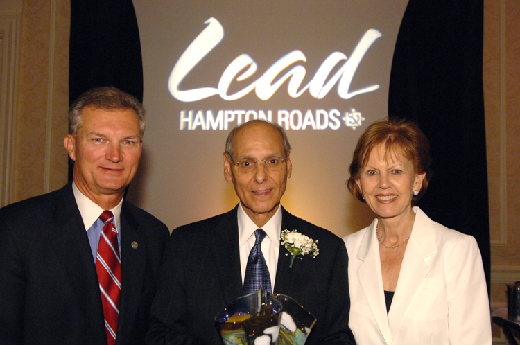 (from left) Aubrey Layne, Vince Mastracco, Suzanne Mastracco.  Layne received the award in 2010.  Photo courtesy of Kevin Schindler.