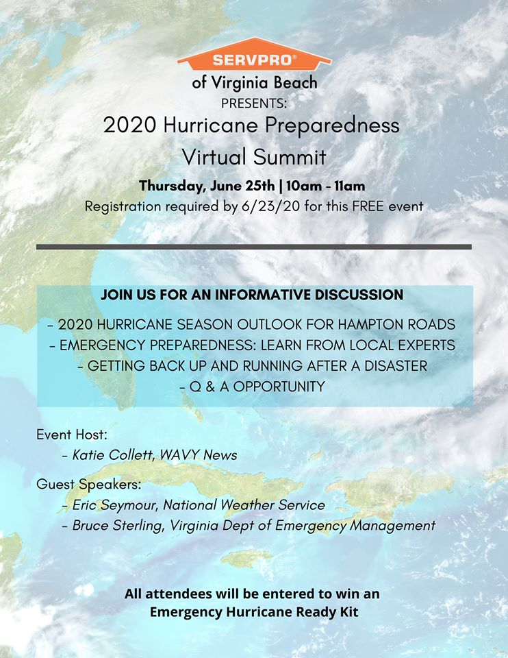 2020 Hurricane Preparedness Virtual Summit Thursday, June 25th at 10am!