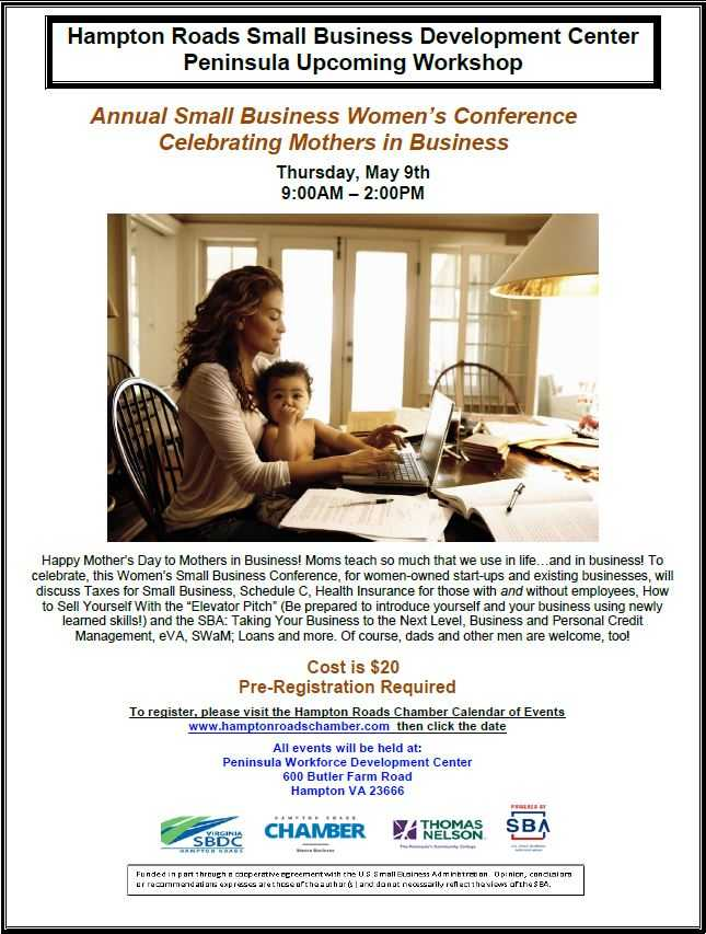Annual Small Business Women's Conference - Celebrating Mothers in Business