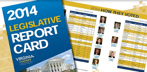Read the Virginia Chamber's 2014 Legislative Report Card