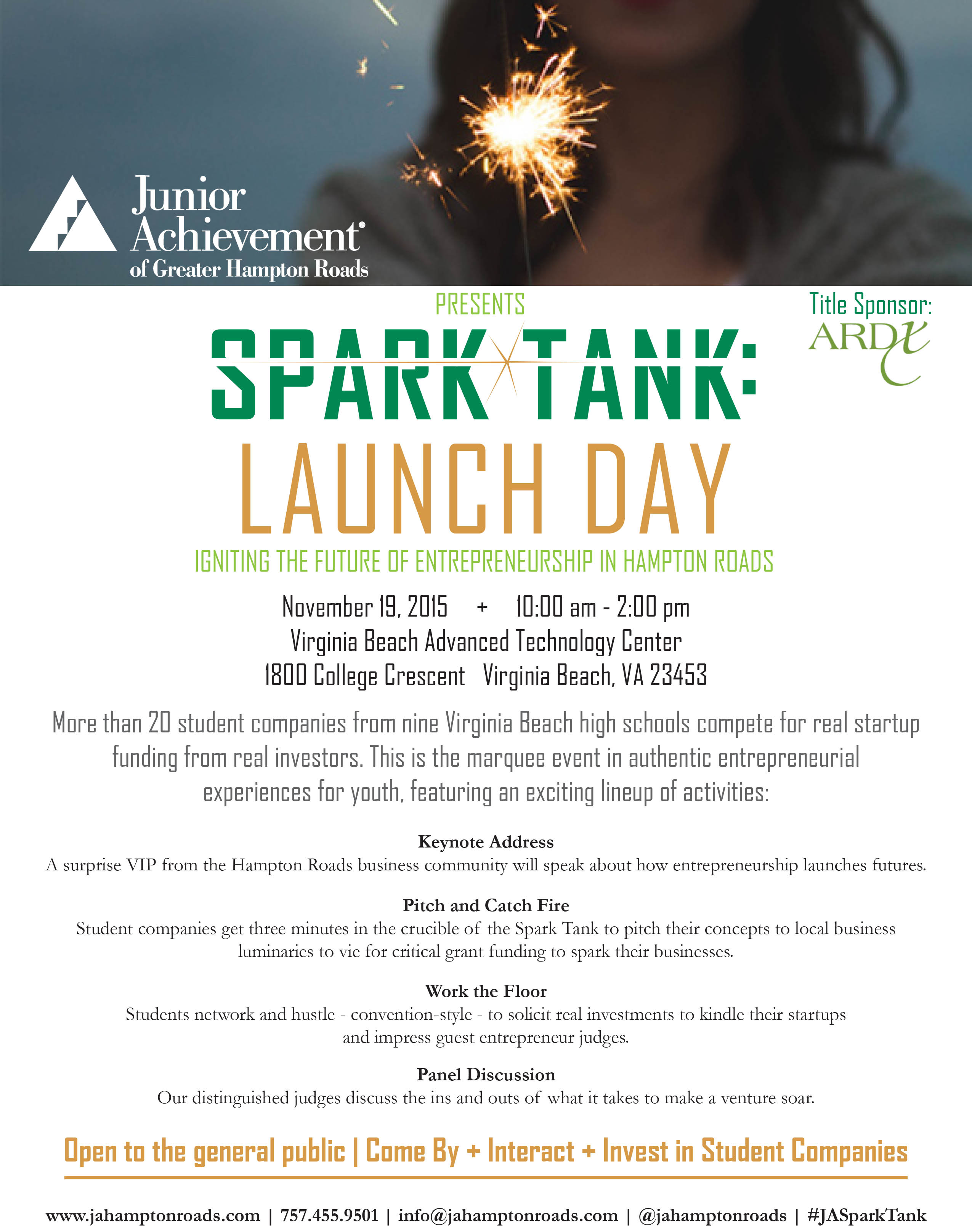 2015 Spark Tank: Launch Day