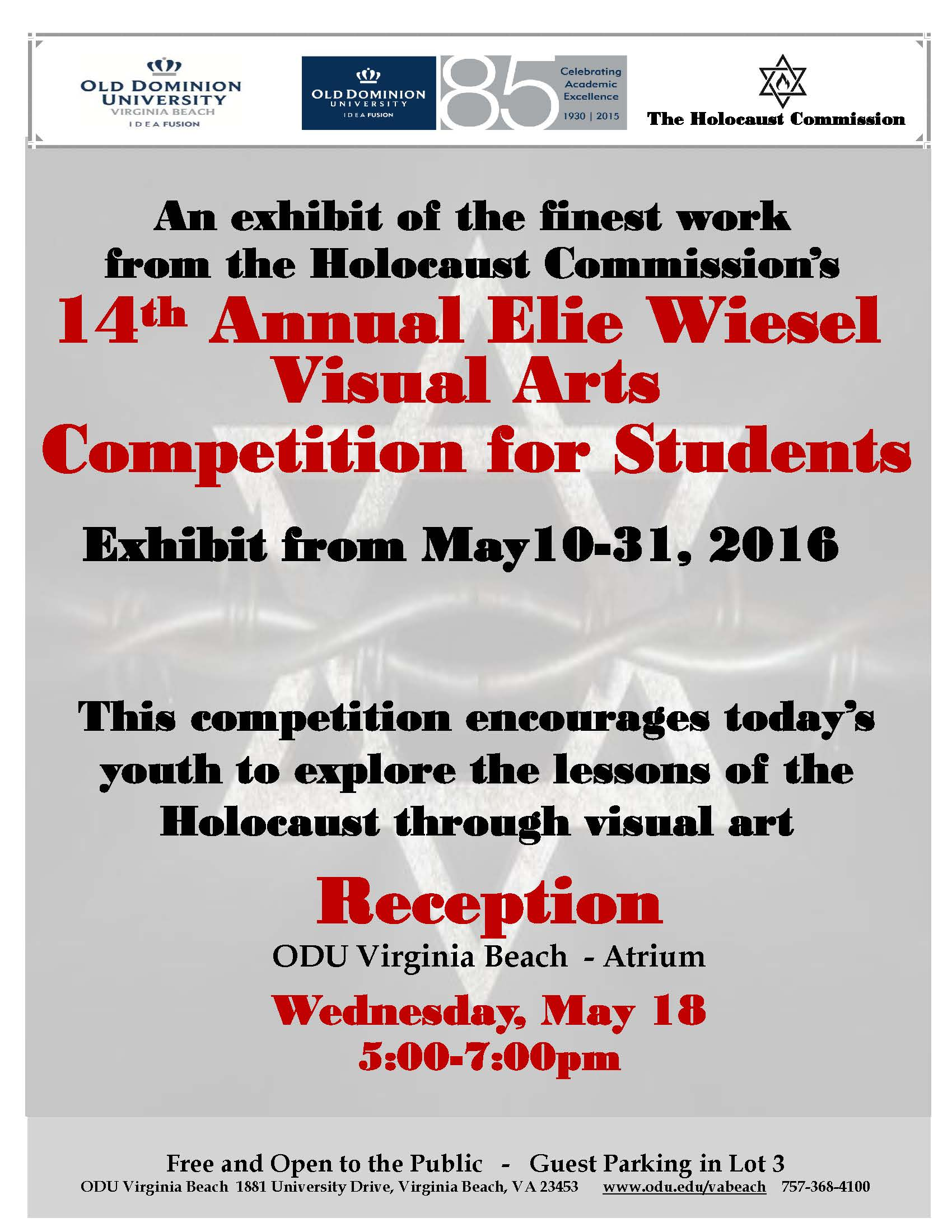 14th Annual Student Holocaust Art Exhibit and reception