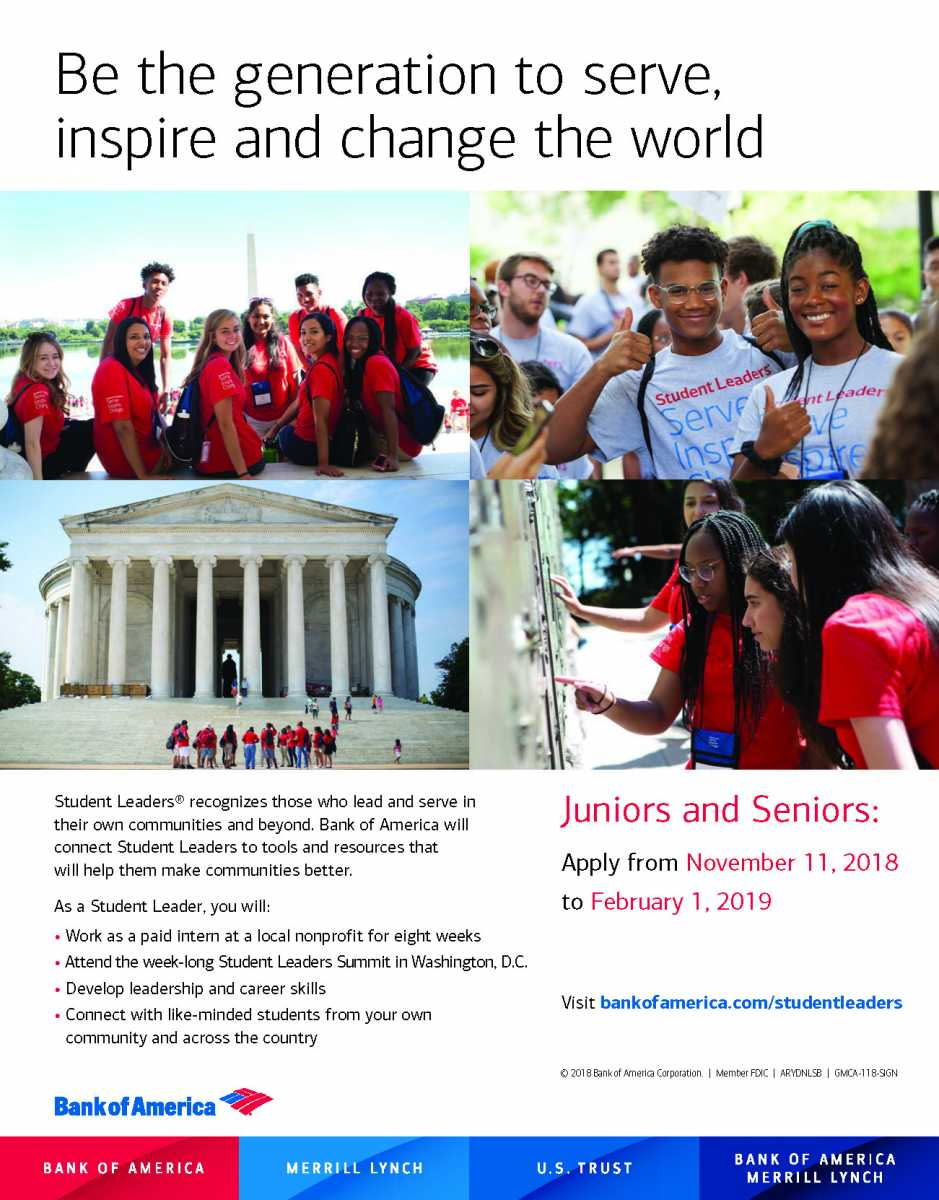 Deadline approaching for Bank of America's Student Leader Program