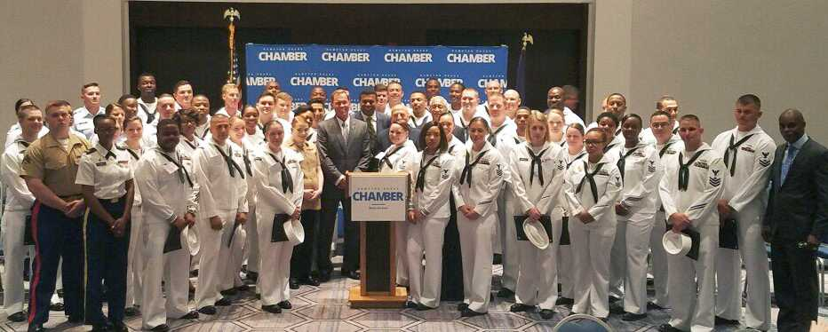 Chamber honors our local military at Military Recognition Reception