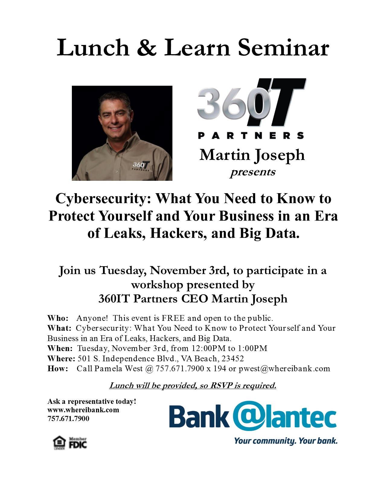 Bank @lantec & 360IT Lunch & Learn