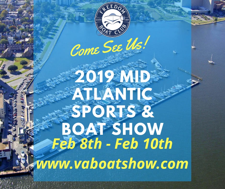 Freedom Boat Club at 2019 Mid Atlantic Sports & Boat Show