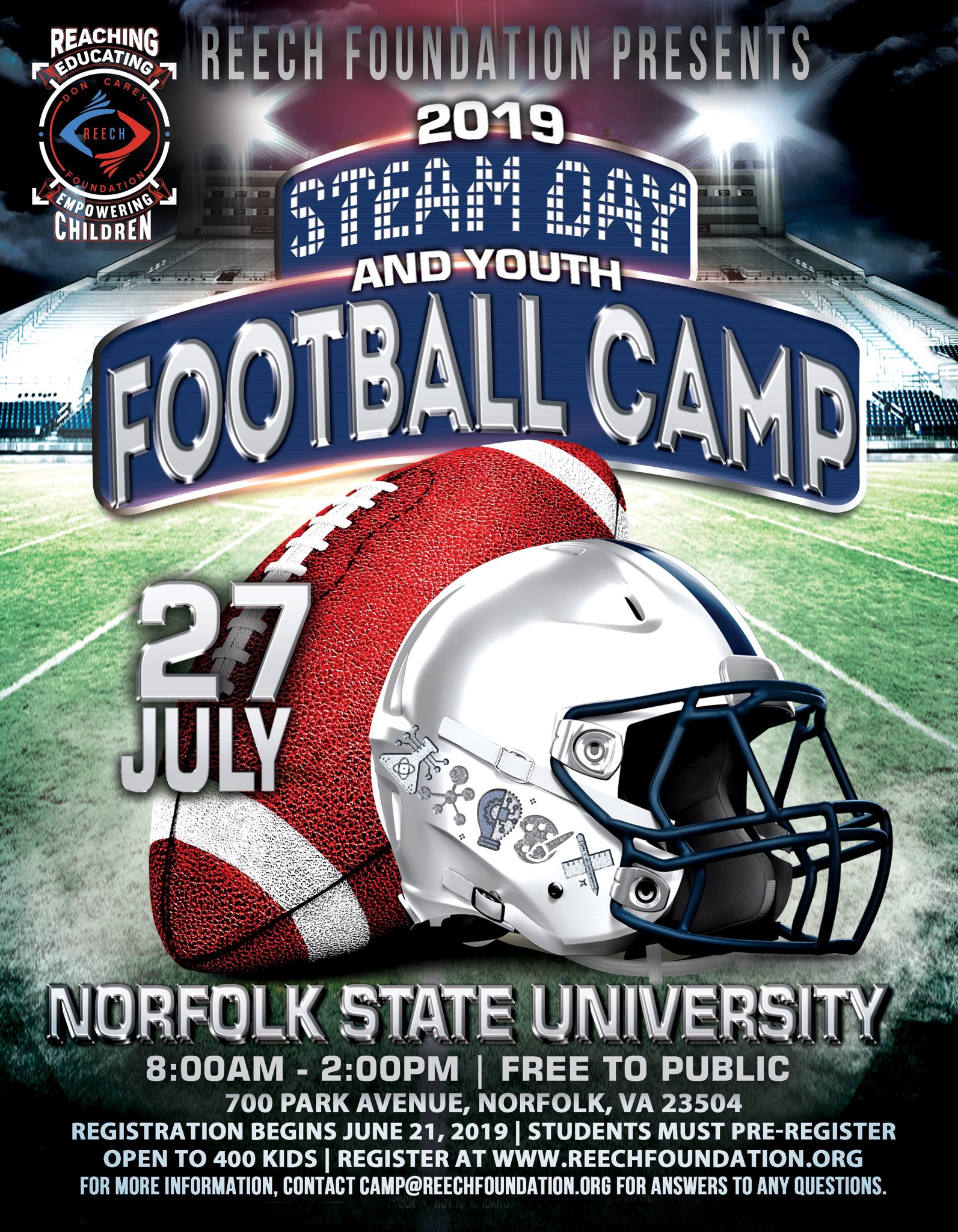 Free STEAM day & Football Camp