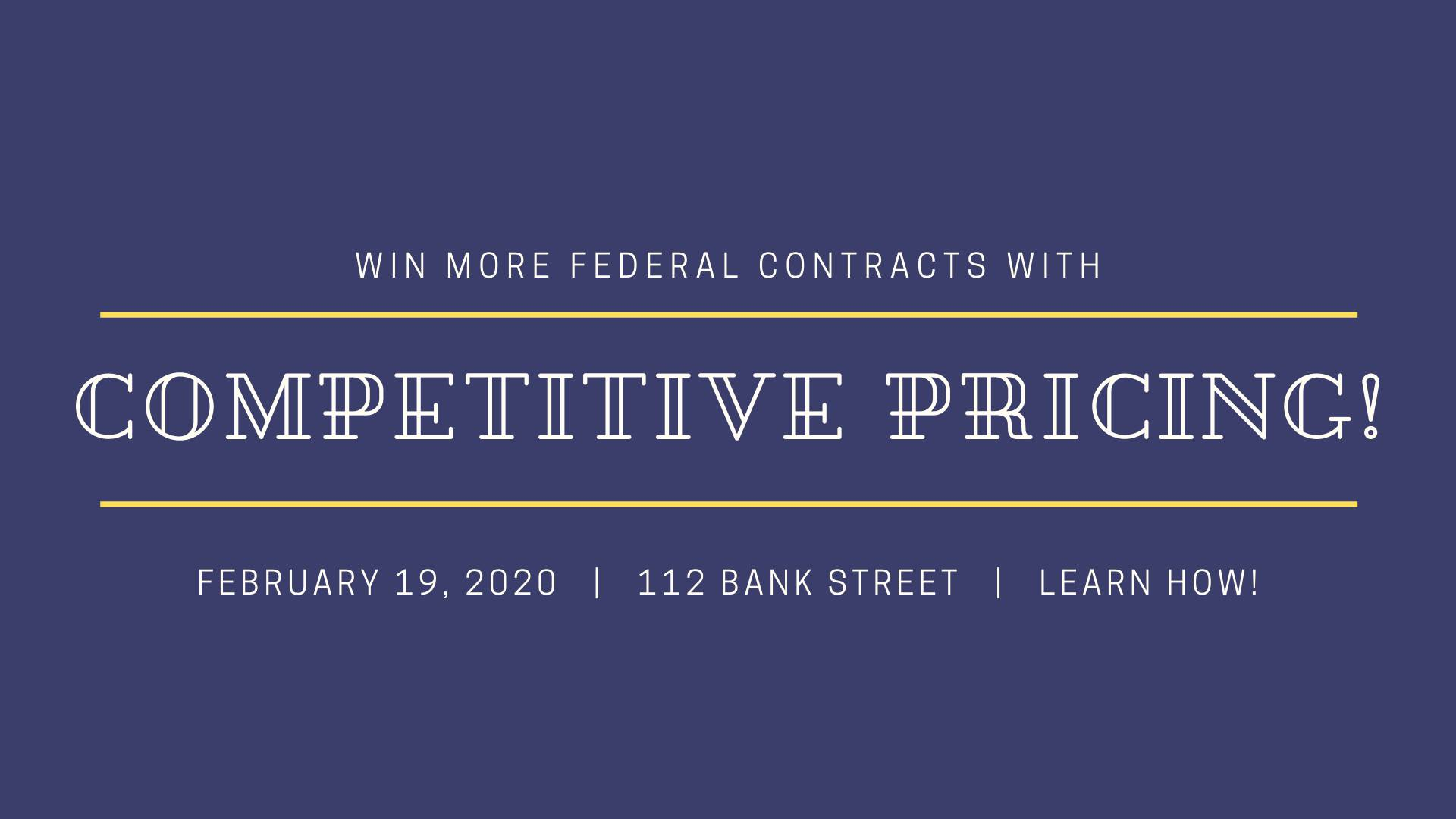 Win More Federal Contracts with competitive pricing!