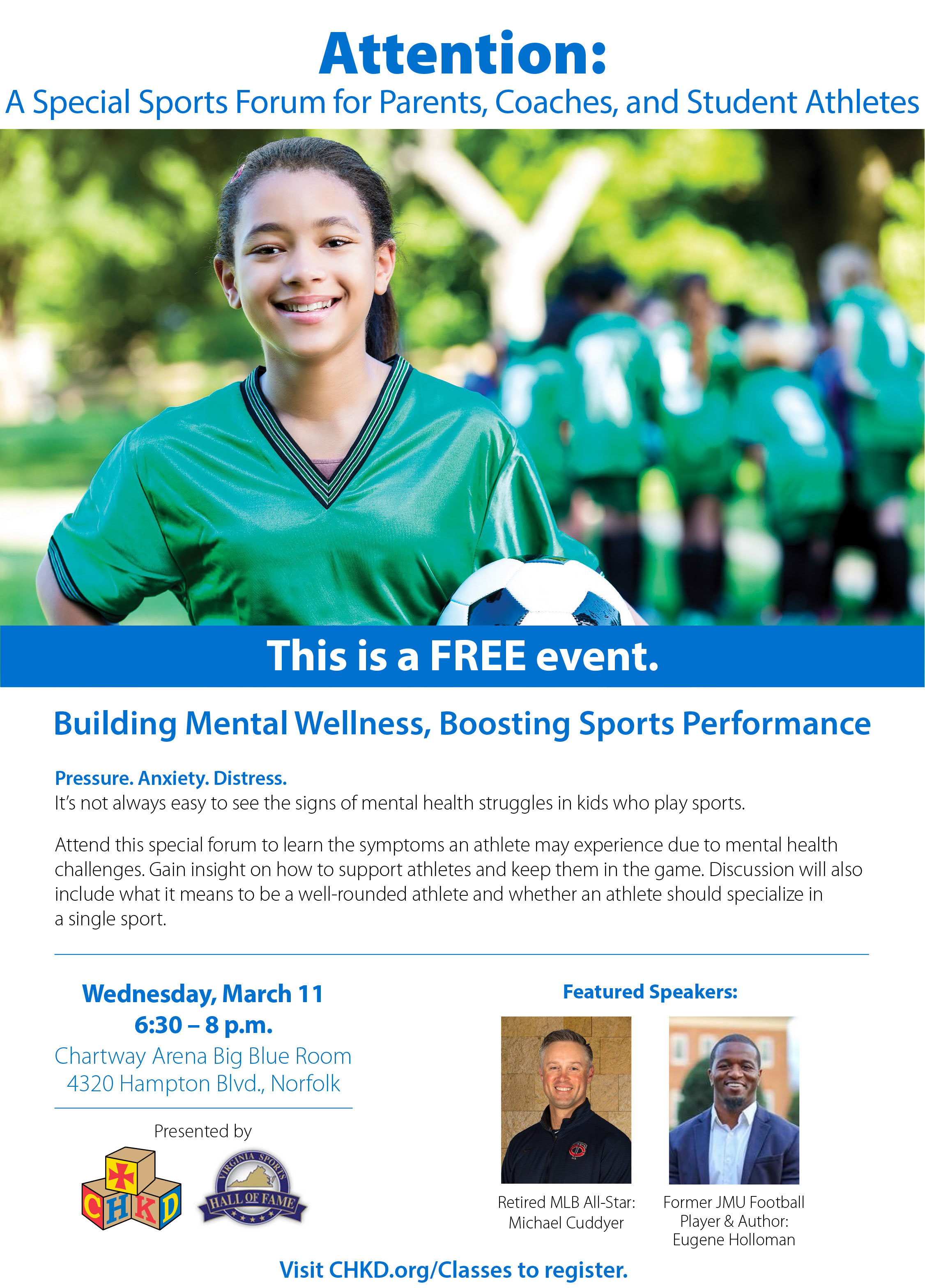 Virginia Sports Hall of Fame and CHKD Highlight Mental Wellness in Youth Sports
