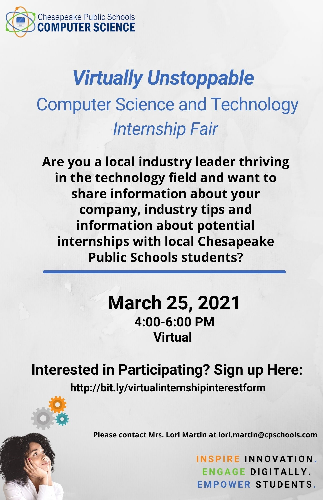 Chesapeake Public Schools Internship Fair - Businesses Needed