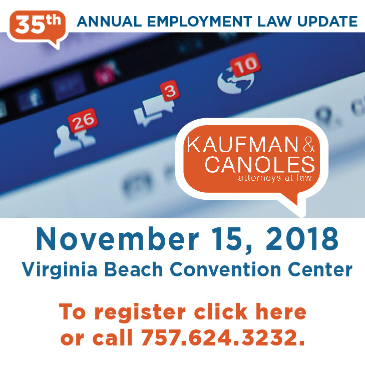 35th Annual Employment Law Update - Virginia Beach