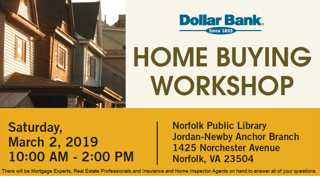 Dollar Bank's Free Homebuyers Workshop is set for March 2nd
