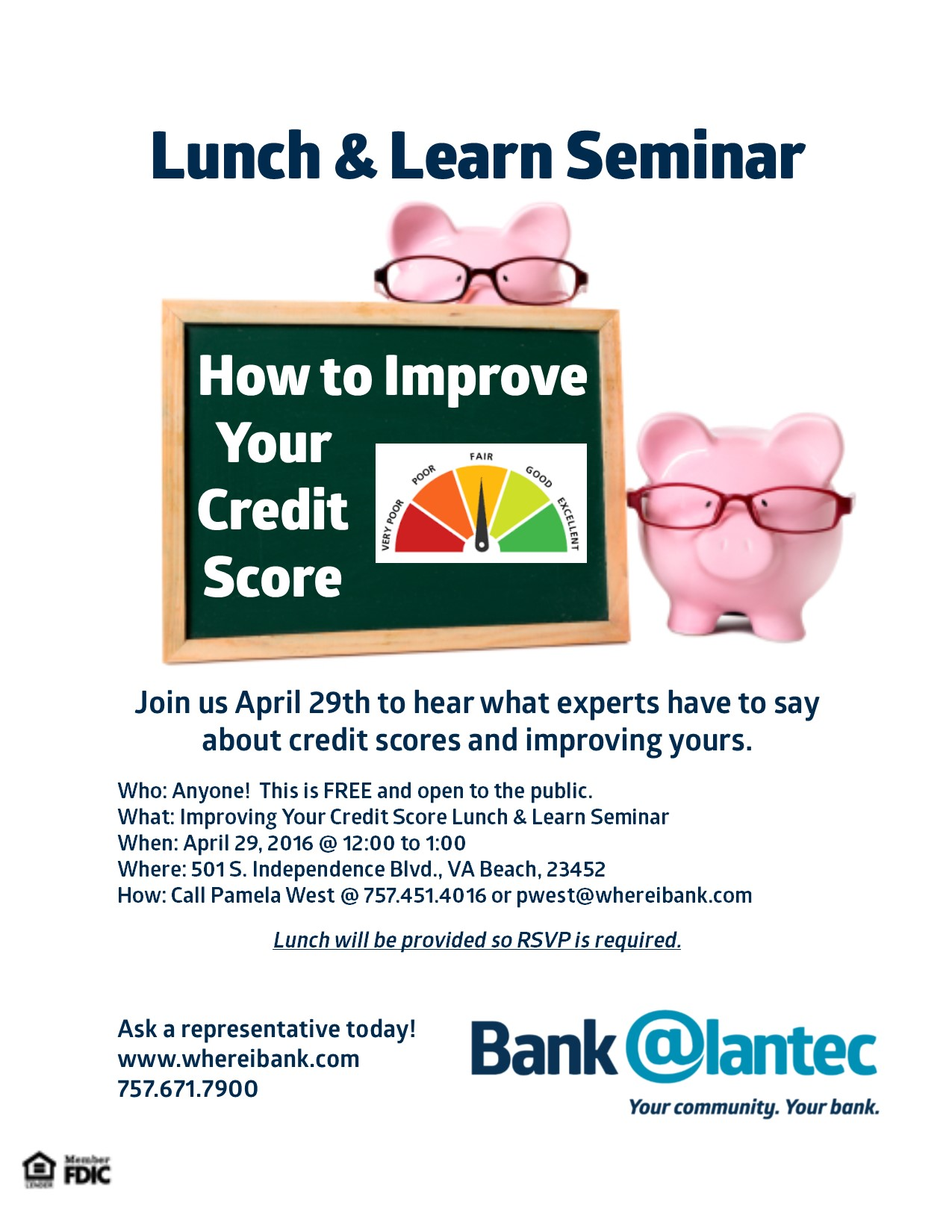 Bank @lantec Lunch & Learn