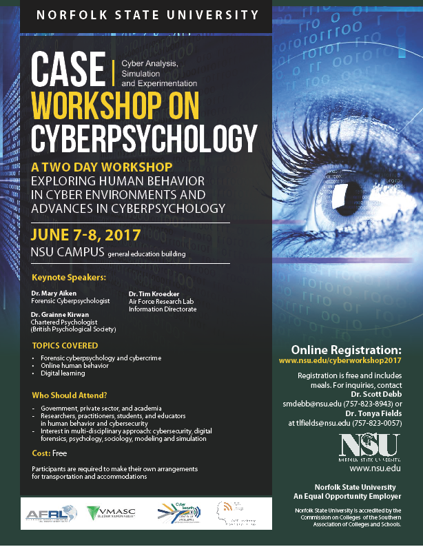 Cyber Psychology Workshop at Norfolk State University
