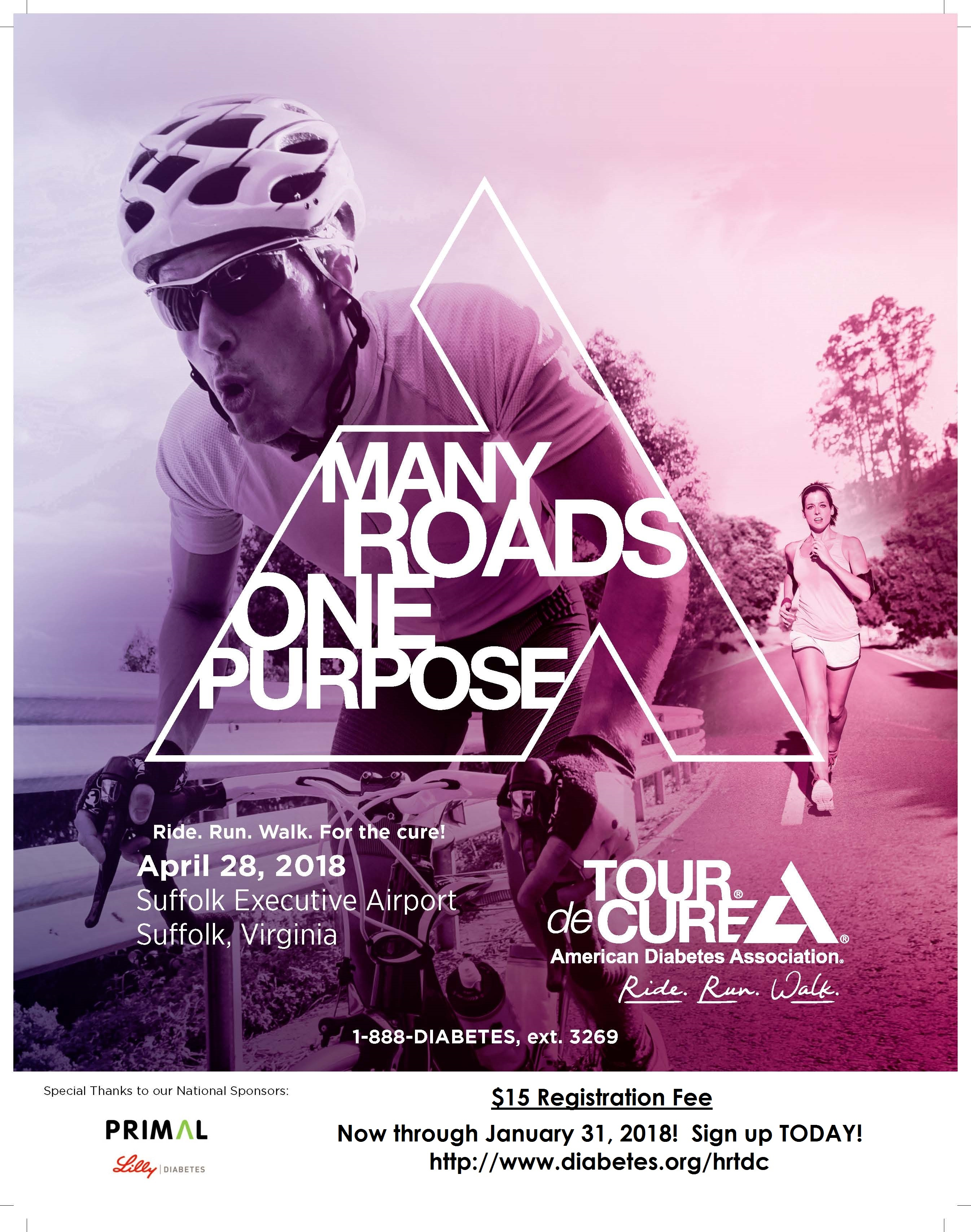 Join the American Diabetes Association for the 2018 Tour de Cure!