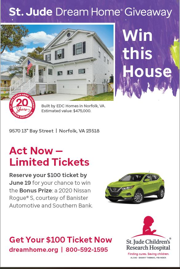 20TH HAMPTON ROADS ST. JUDE DREAM HOME GIVEAWAY