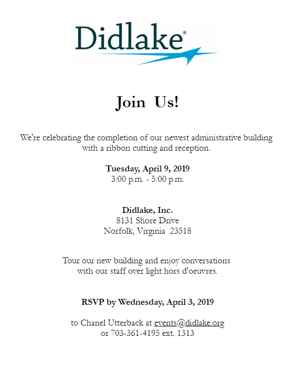 Didlake, Inc. Celebrates New Building