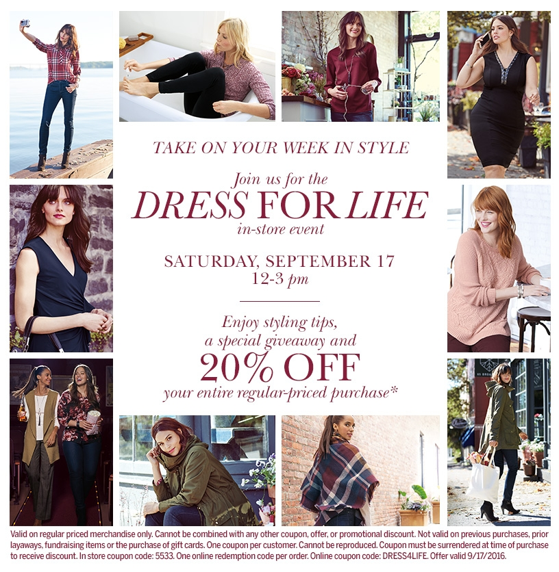 Dress For Life at Dressbarn