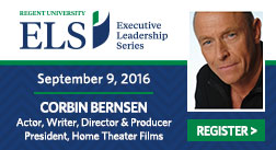 Corbin Bernsen to Speak at Regent University's Executive Leadership Series