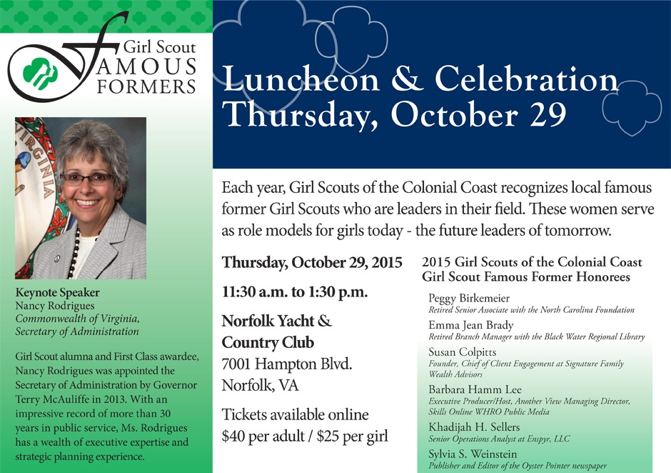 Girl Scout Famous Formers Luncheon