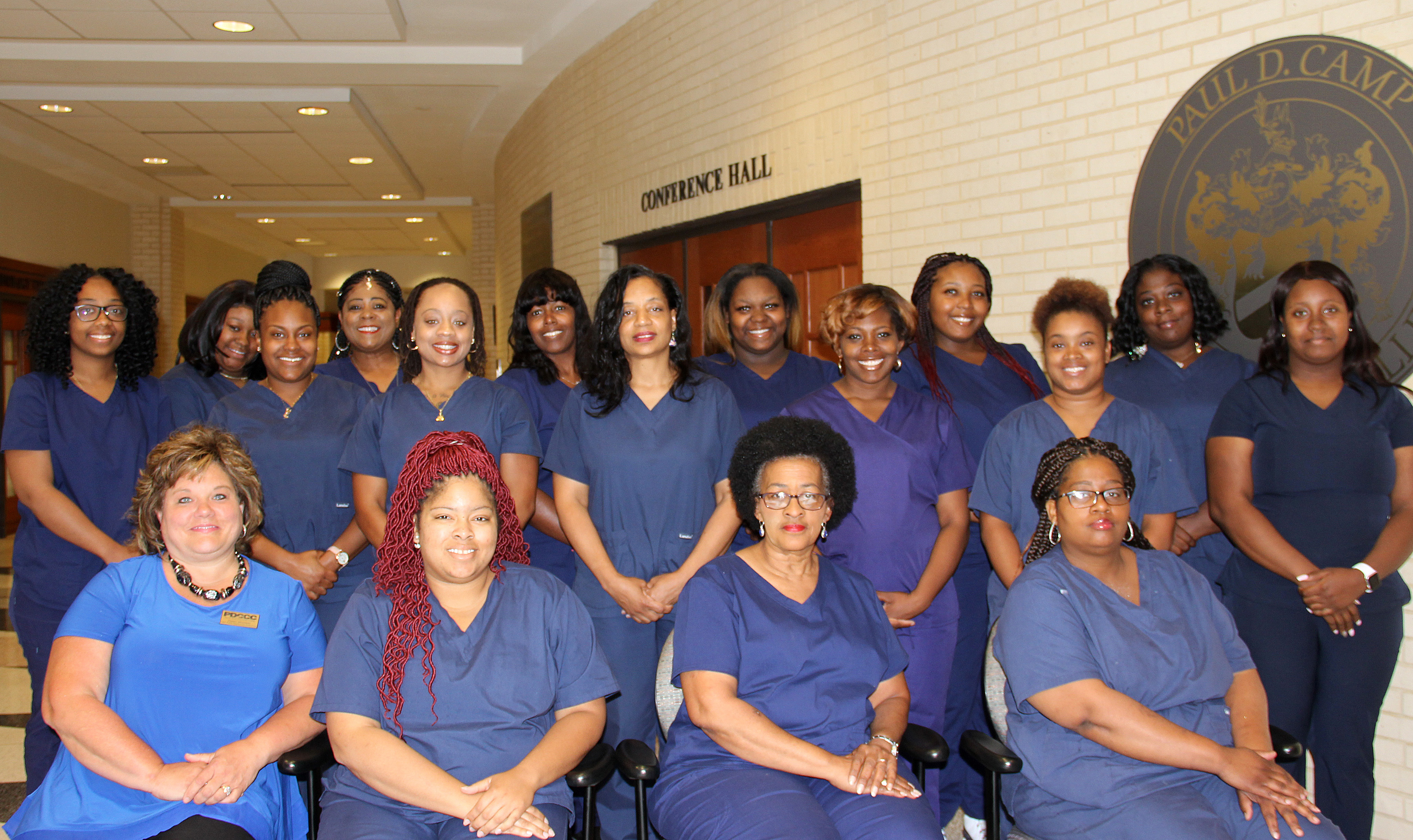 Paul D. Camp Community College Fast Track Healthcare program graduates 16