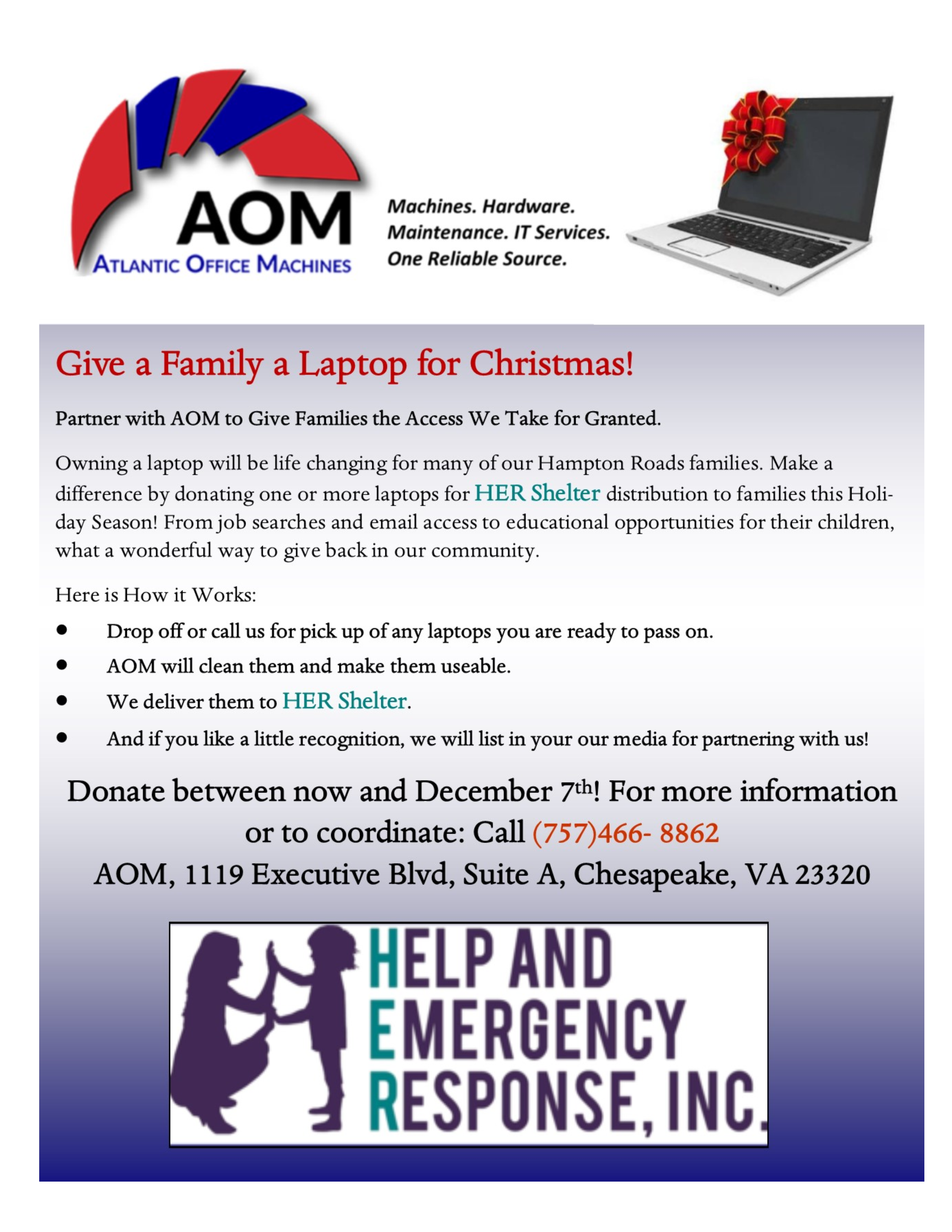 Give a Family a Laptop for Christmas