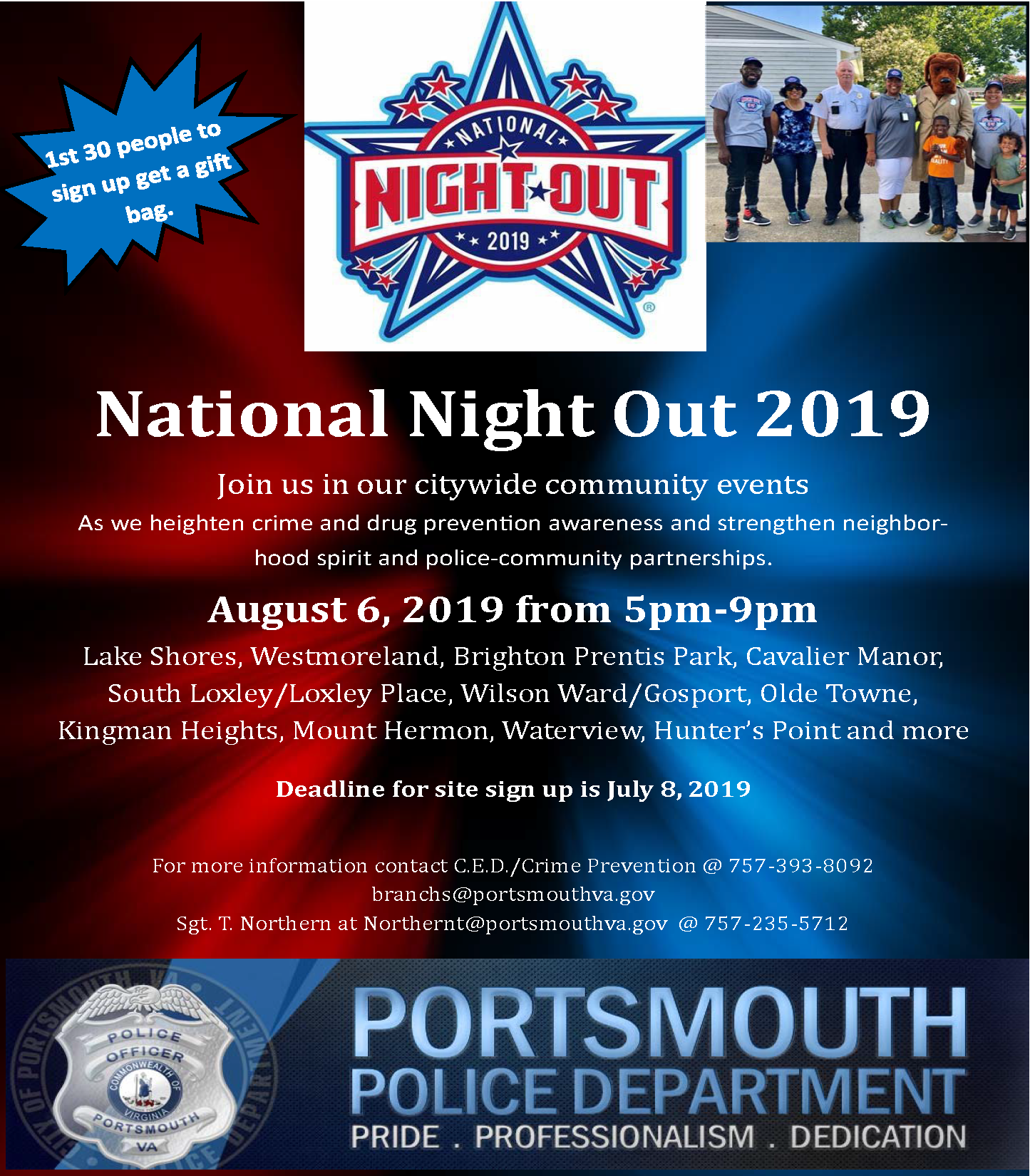 Portsmouth Police Department National Night Out 2019