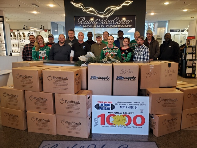 NOLAND CHESAPEAKE FOOD DRIVE HELPS FIGHT HUNGER