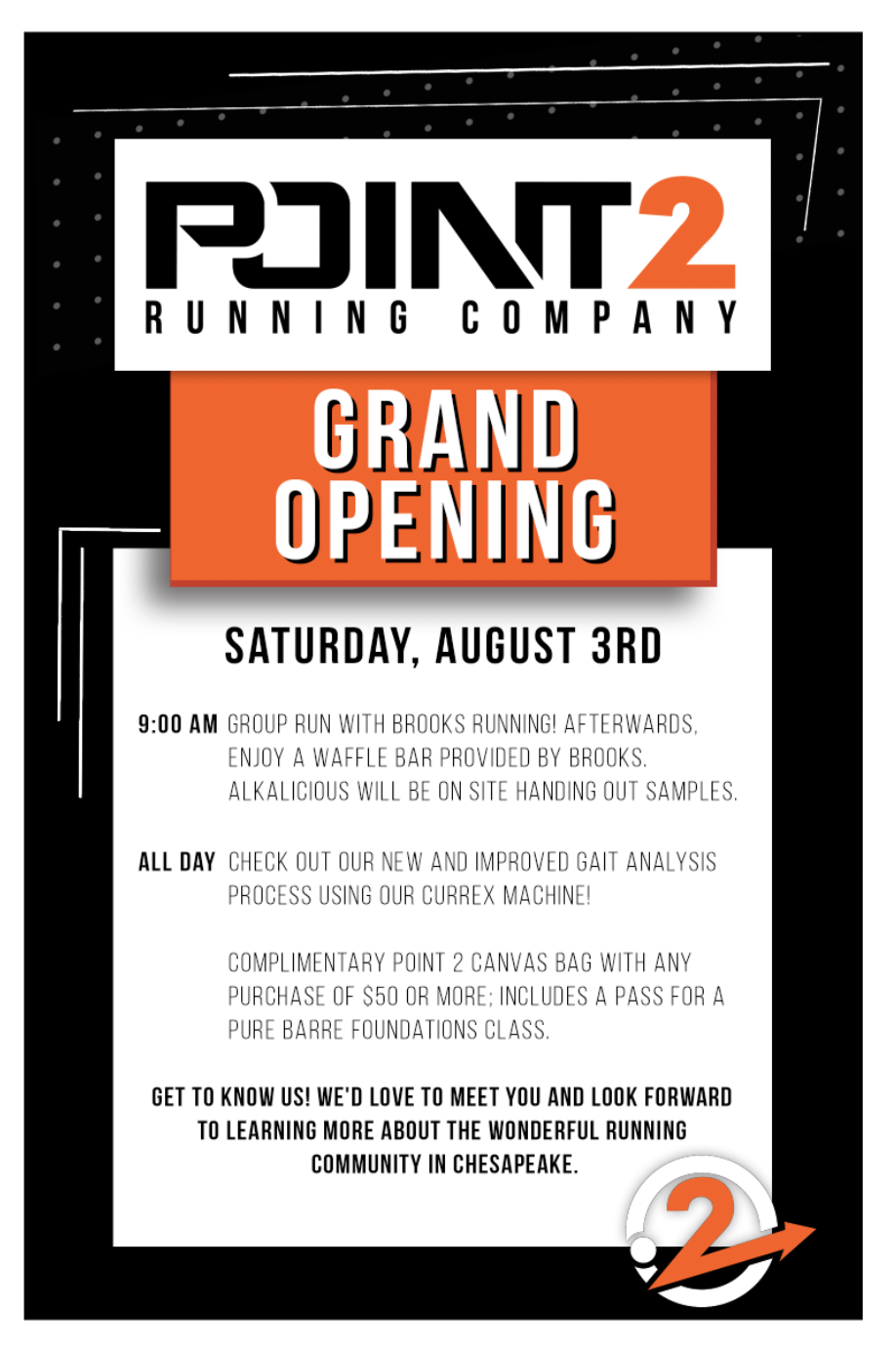Point 2 Running Company Grand Opening
