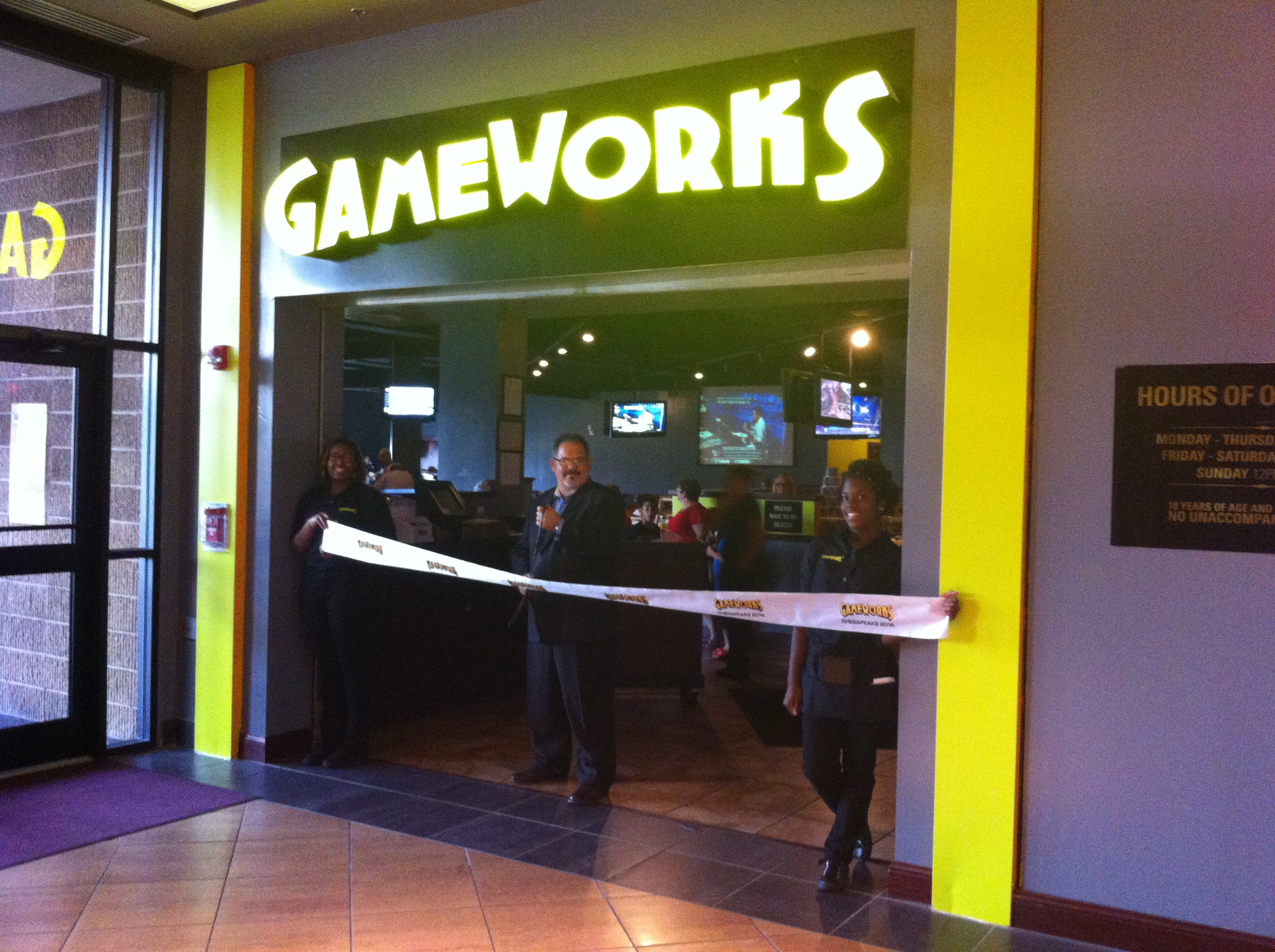 Game Works Now Open in Chesapeake