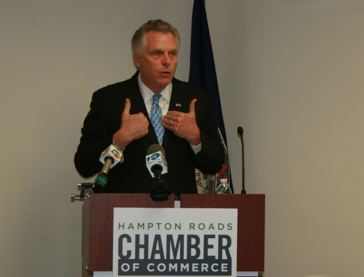 Governor McAuliffe Calls for Common Sense Approach to Issues Affecting Business
