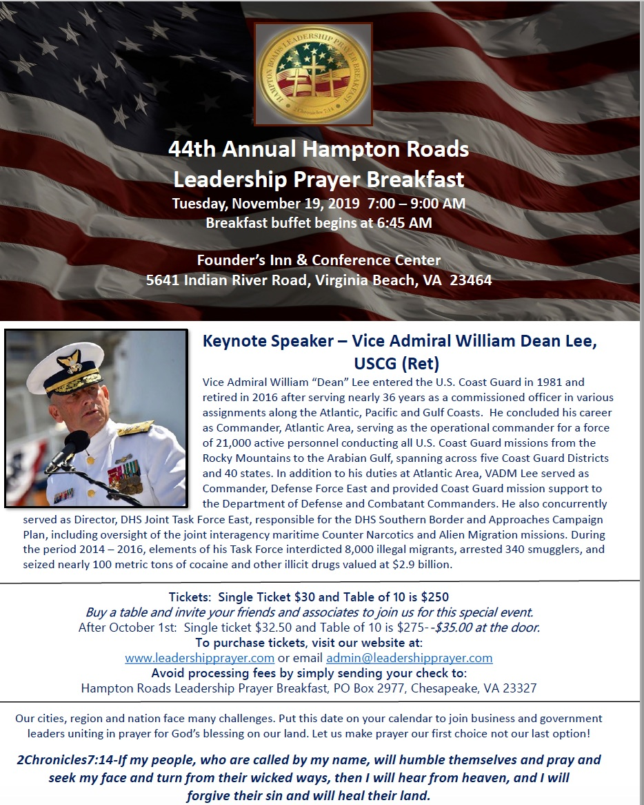 Hampton Roads Leadership Prayer Breakfast