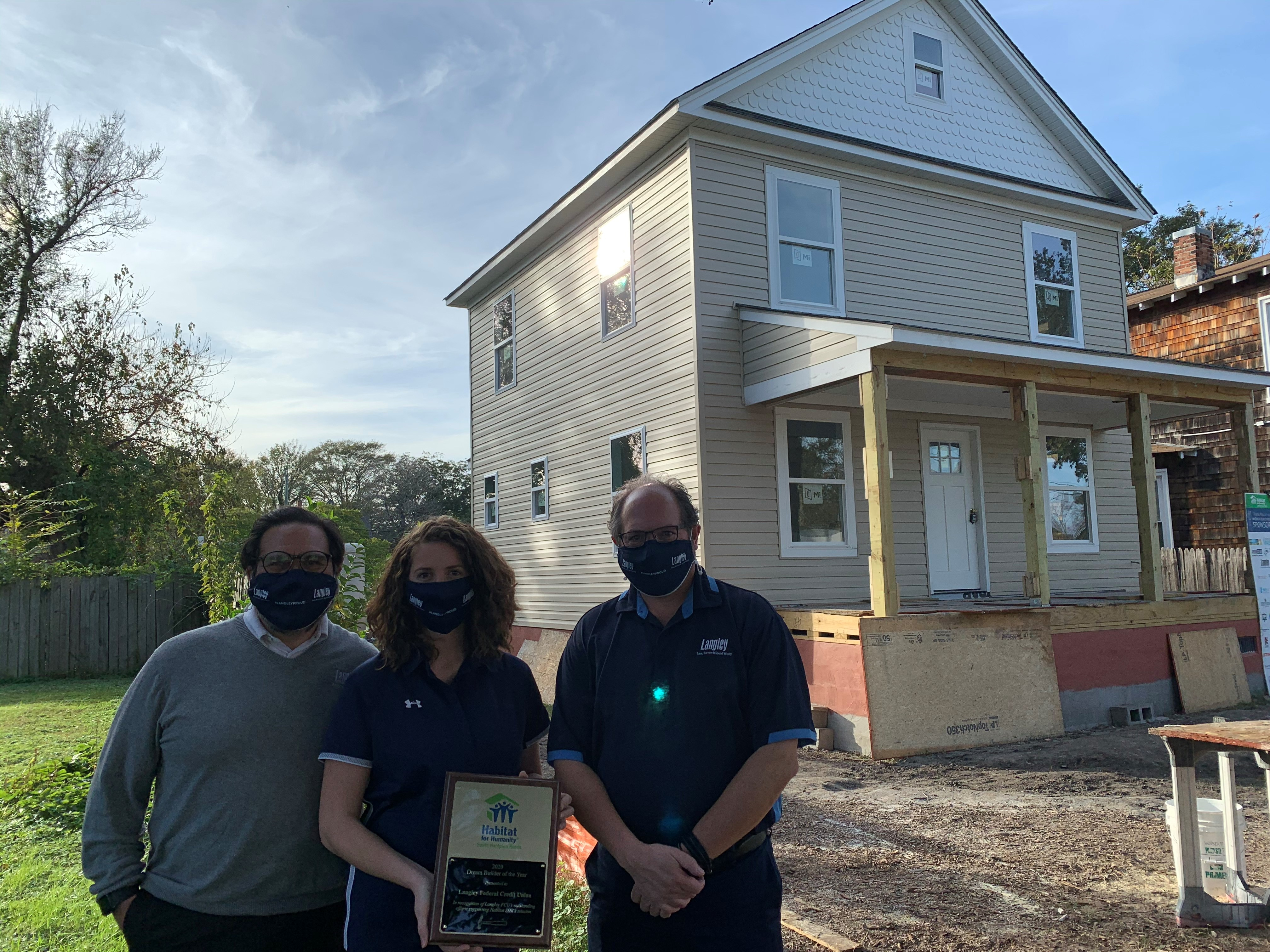 Habitat for Humanity Announces Langley Federal Credit Union As Its 2020 Dream Builder of the Year