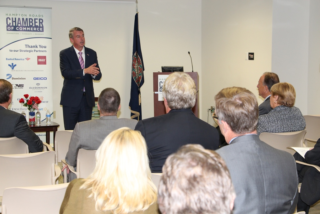 U.S. Senatorial Candidate Ed Gillespie Briefs Hampton Roads Chamber of Commerce
