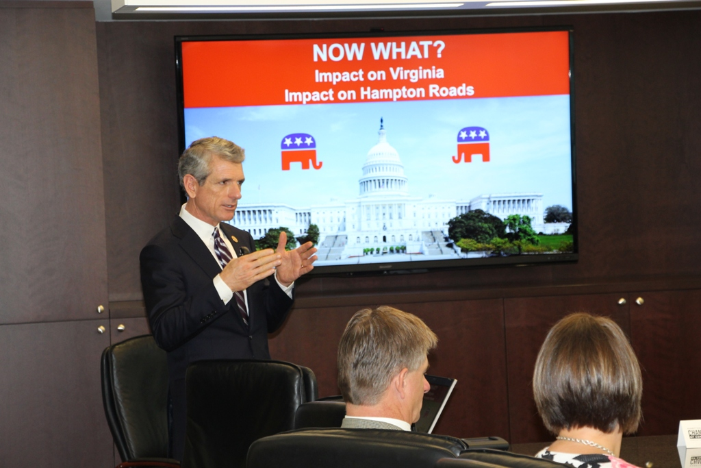 Congressman Scott Rigell Speaks to Chamber's Virginia Beach Division Board on November 6