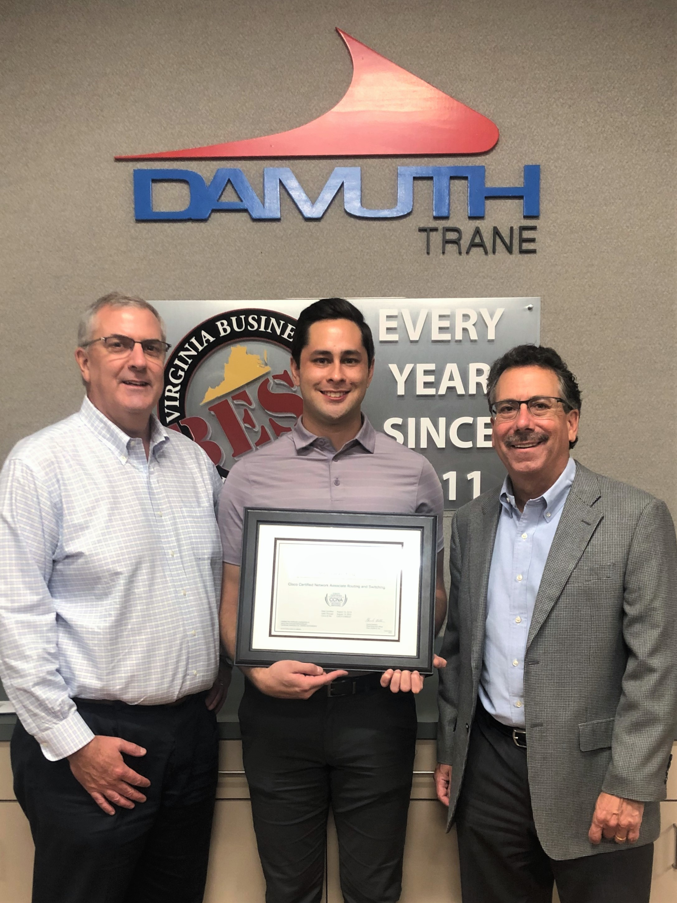 Damuth Trane Intelligent Services Technician Earns Cisco Certification