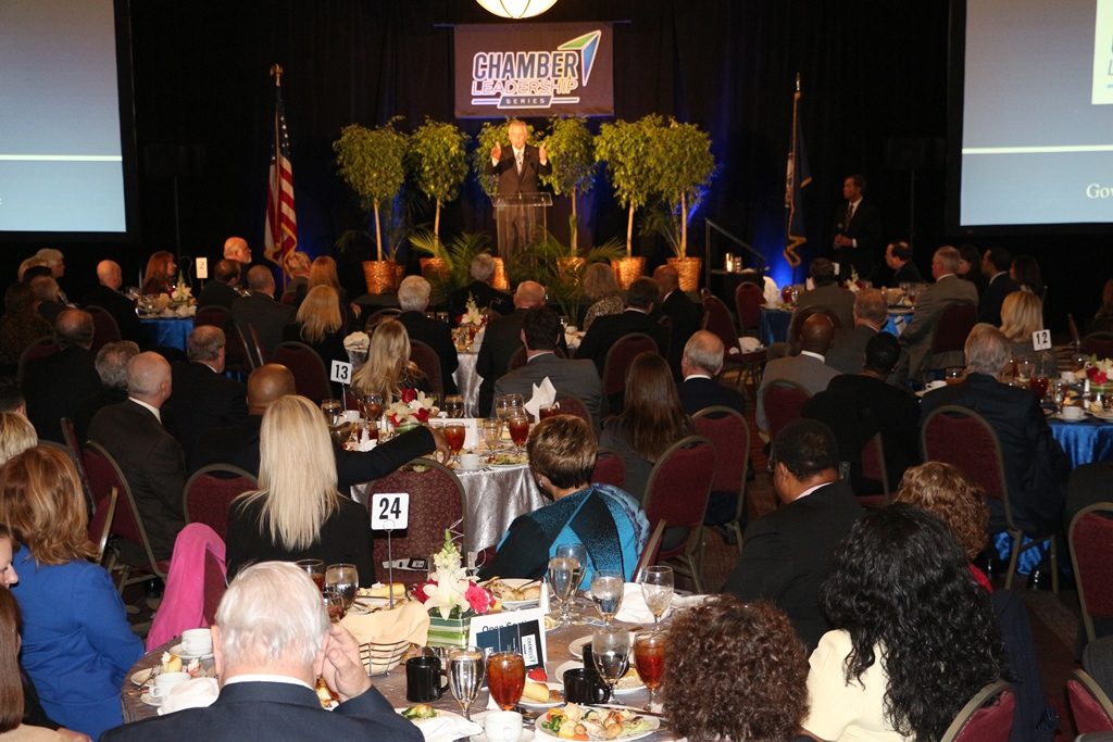 Governor Terry McAuliffe kicked off the Chamber Leadership Series on March 24th