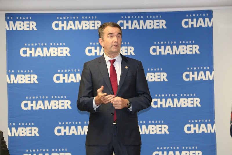 Virginia Lieutenant Governor Ralph Northam visits the Chamber