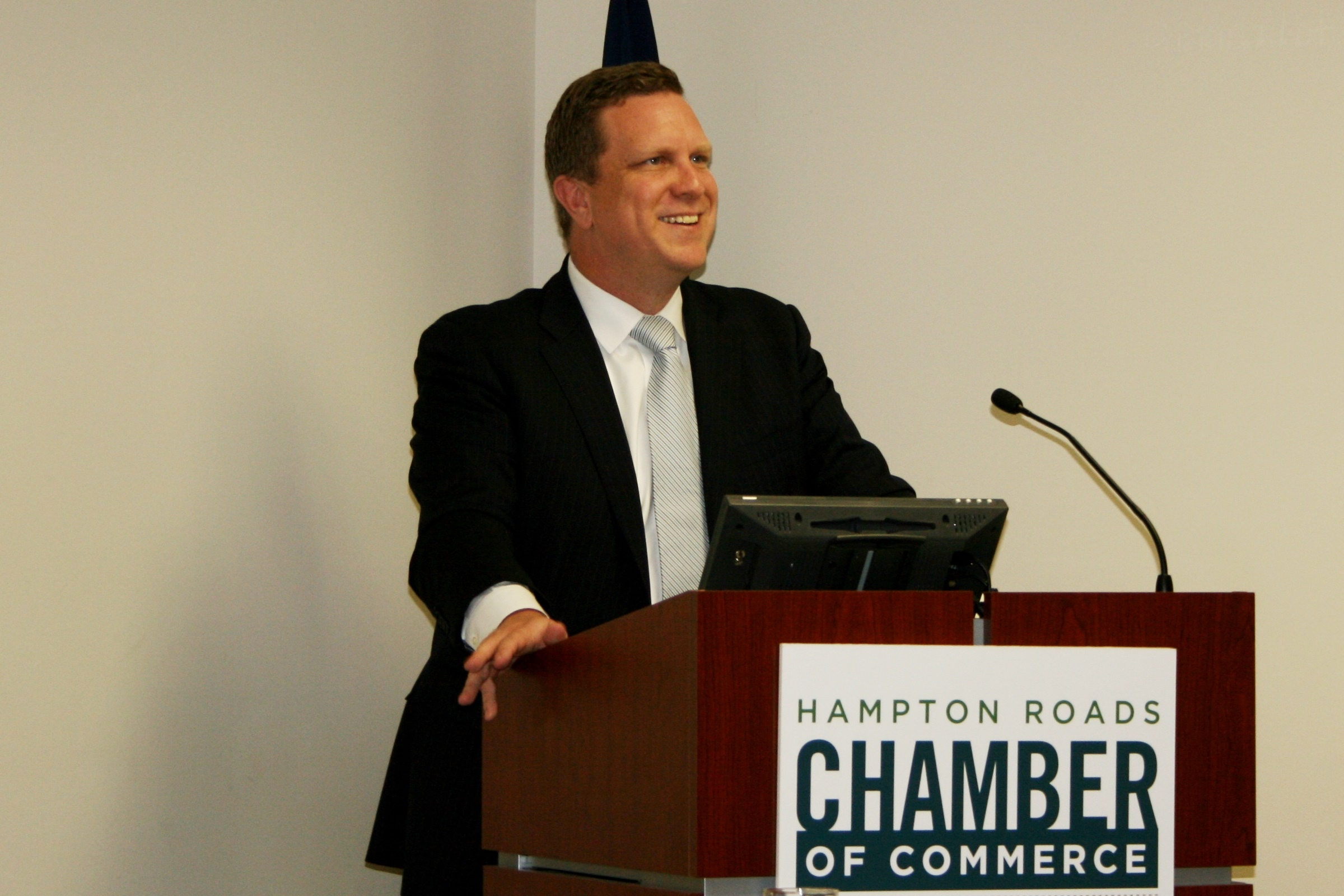 Dr. David Danielson, Assistant Secretary for Energy Efficiency and Renewable Energy from the U.S. Department of Energy Briefed Members of the Hampton Roads Chamber