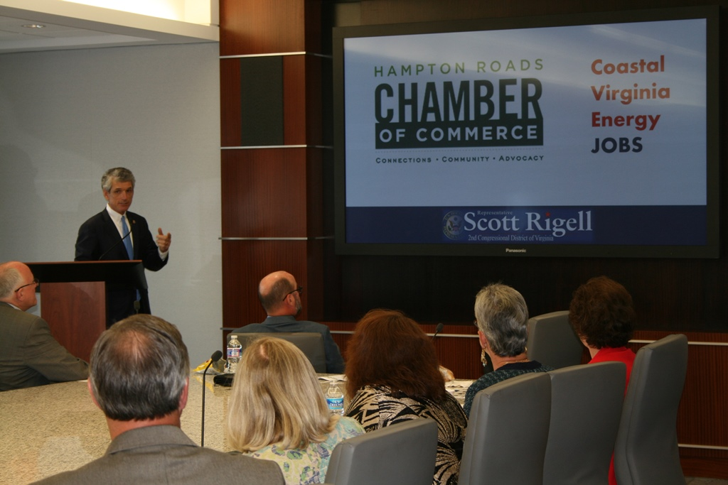 Congressman Scott Rigell Urges Business Community to Support  Coastal Energy