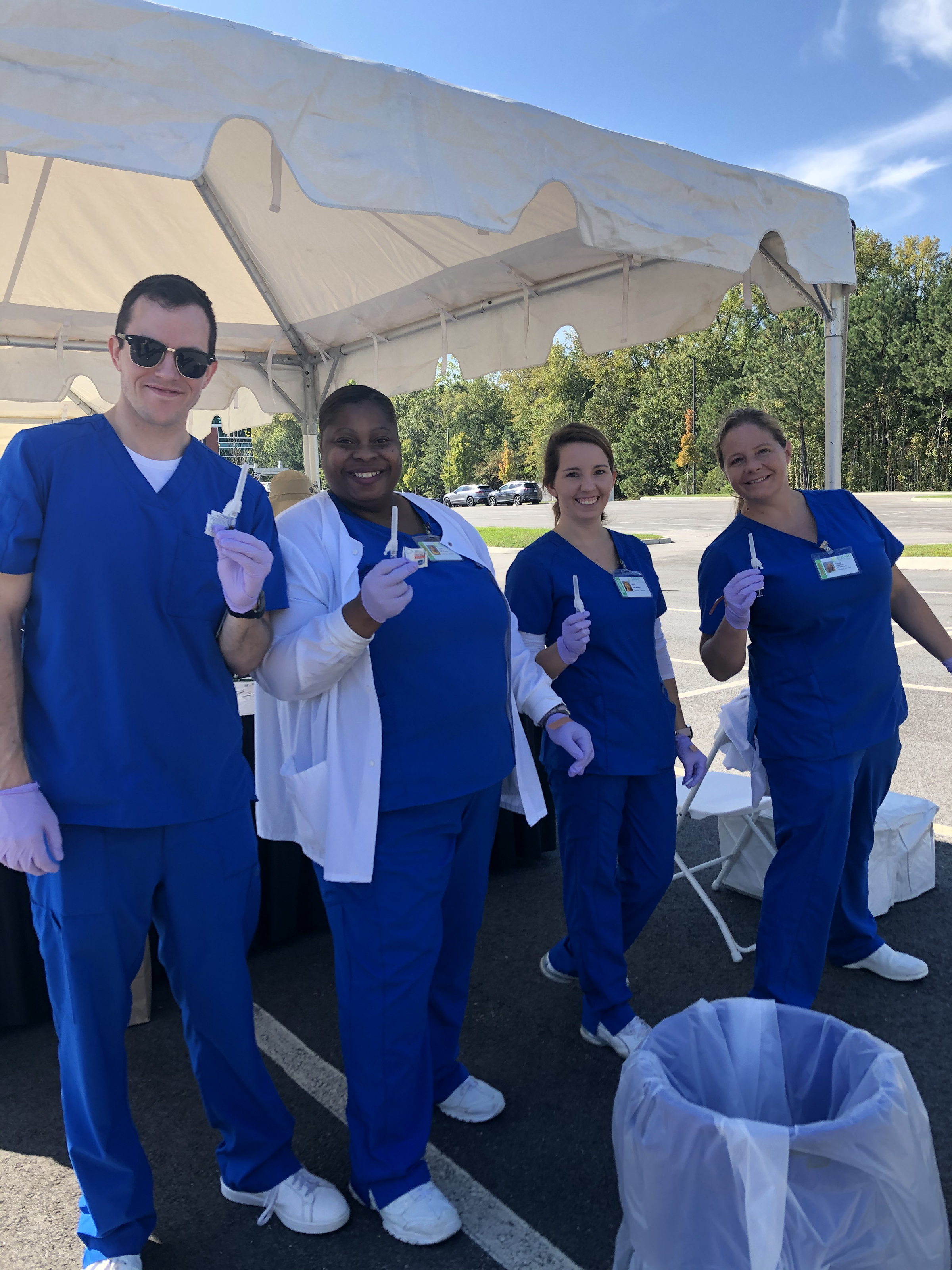 Camp nursing students partner with Sentara to promote health