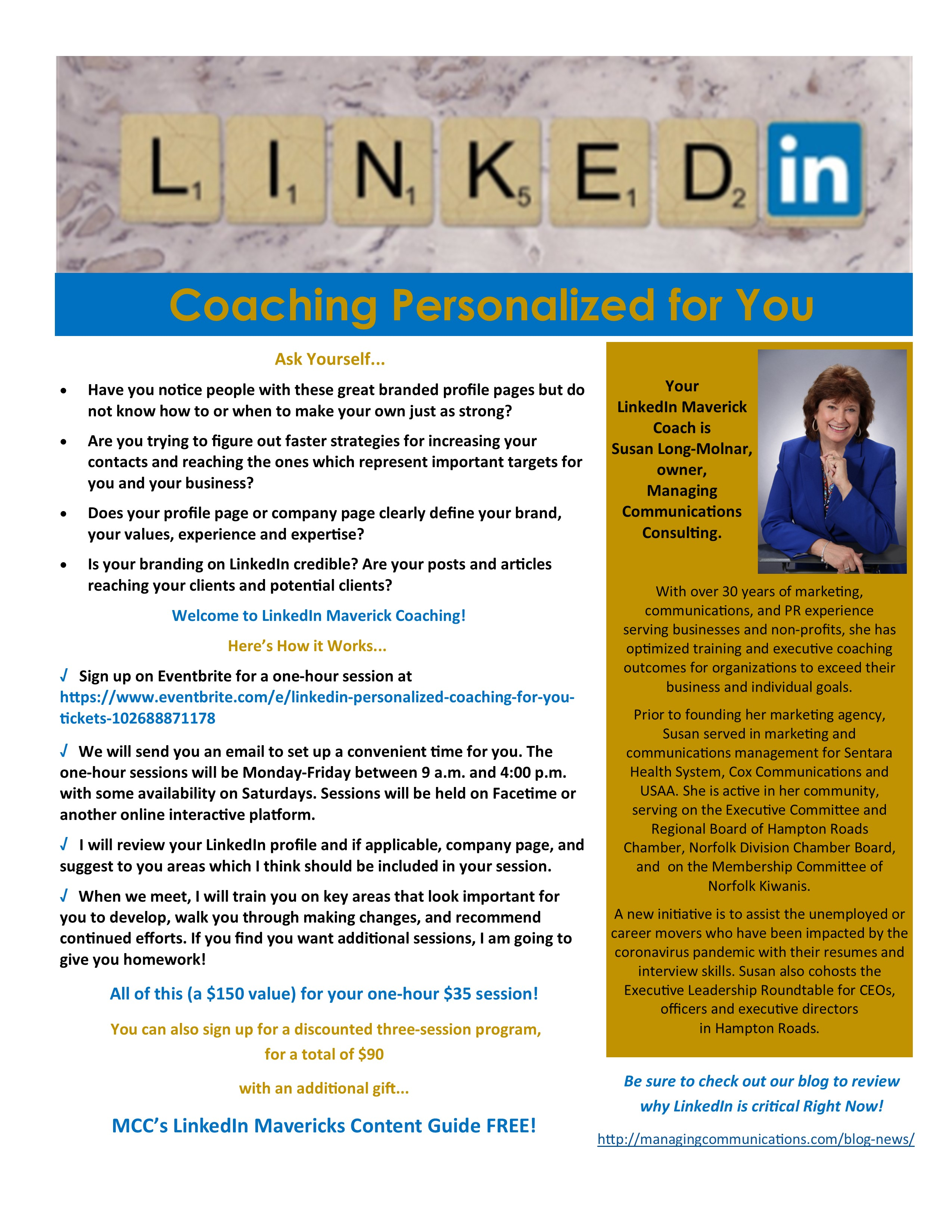 New LinkedIn Personalized Coaching
