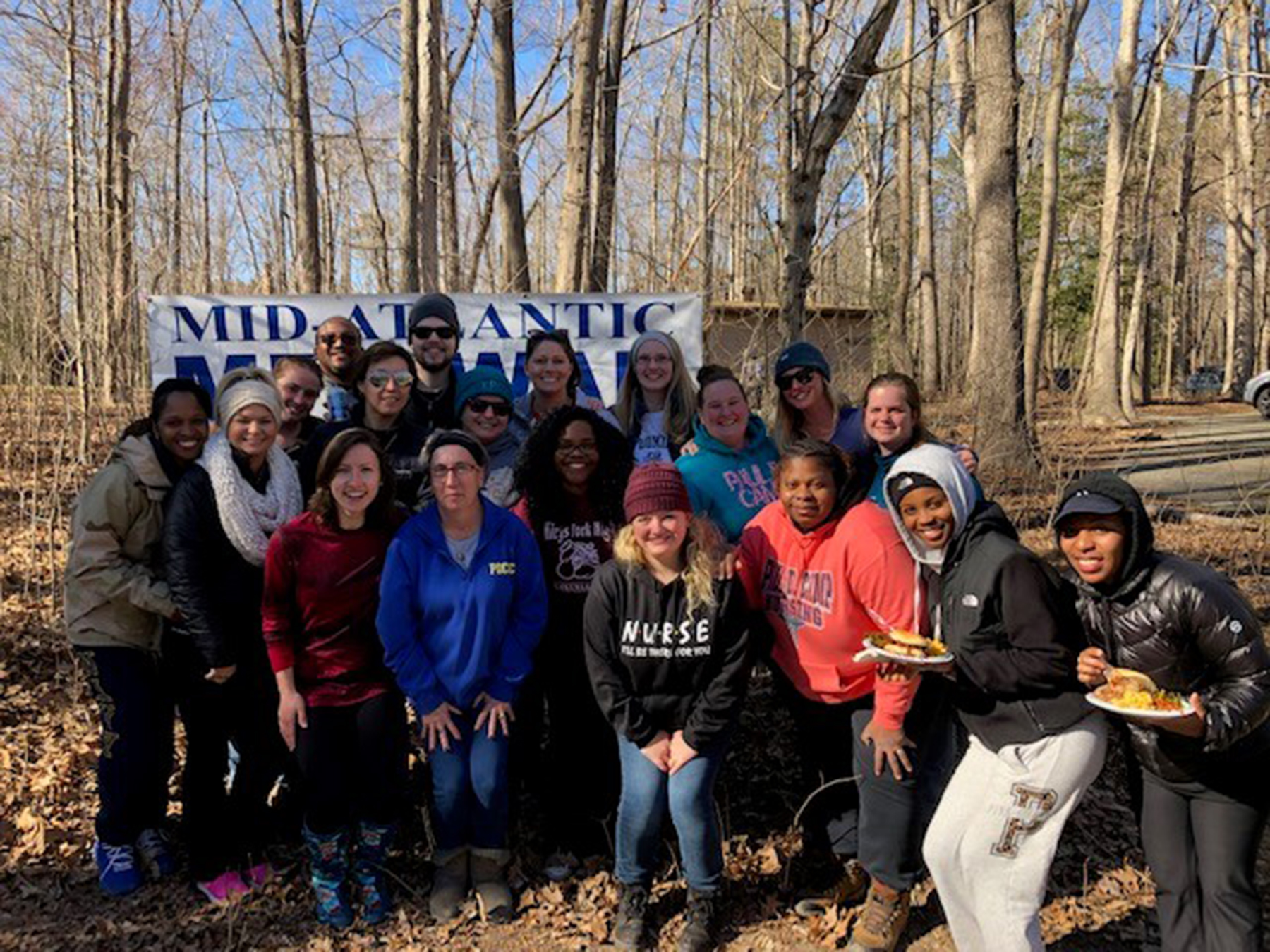 Paul D. Camp Community College nursing students participate in wilderness adventure activity