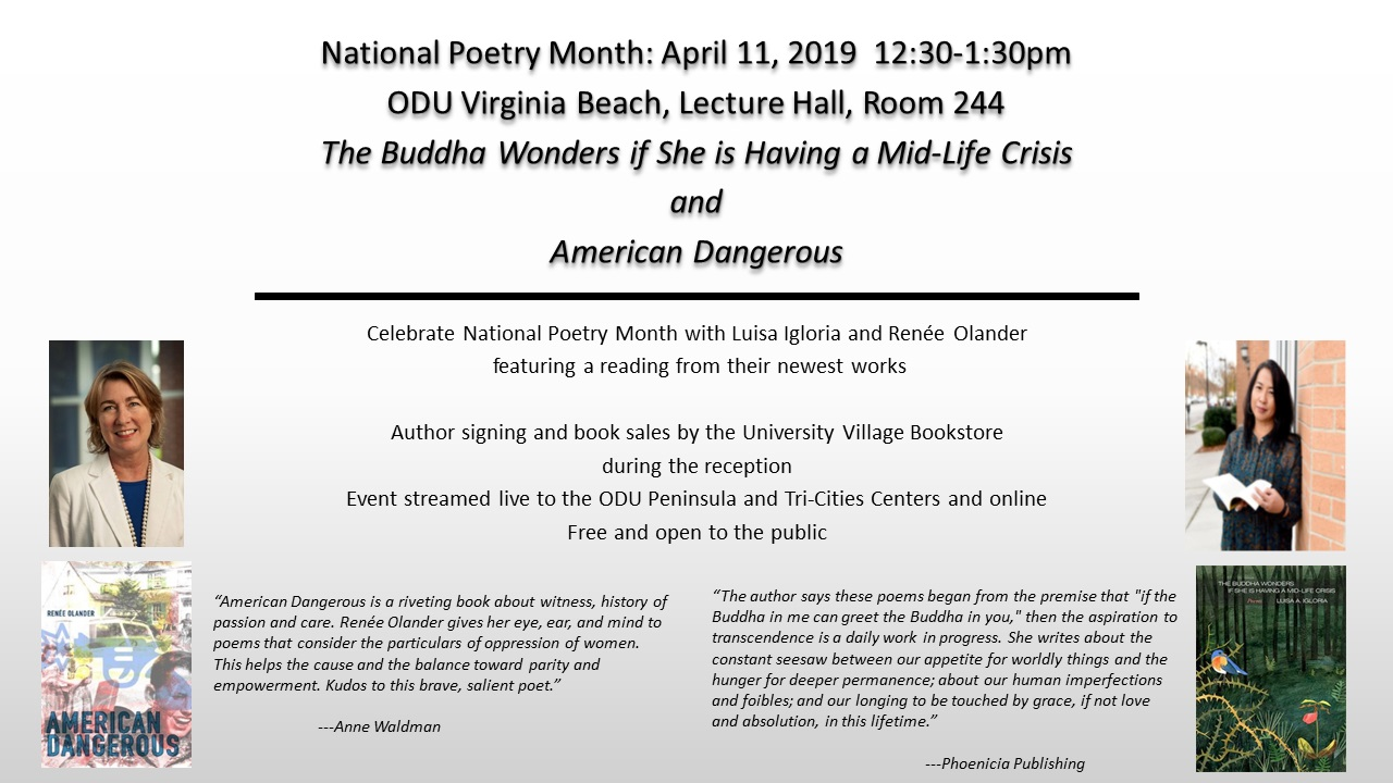 National Poetry Month Event Hosted at ODU Virginia Beach